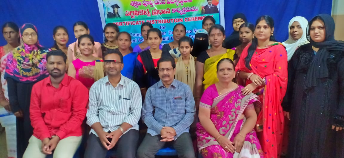 Certificate Distribution to Course Completed at LAST Programme on 31.10.2018